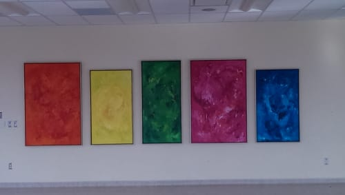 Chakra Healing Series | Paintings by Candace Wilson Art Studio | Bridgepoint Active Healthcare in Toronto