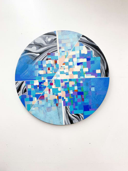 Paintings by Trent Thompson seen at Private Residence, Danville - Color Wheel