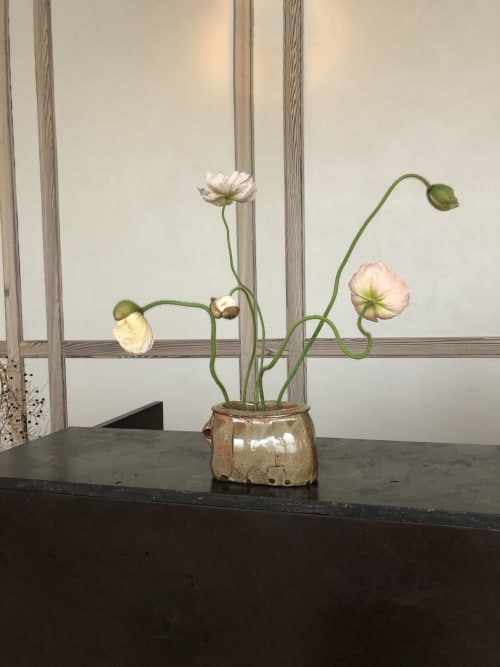 Floral Arrangements by Serracinna seen at Austin Proper Hotel, Austin - Poppy arrangement