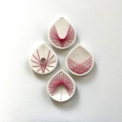 Art & Wall Decor by Elizabeth Prince Ceramics seen at Creator's Studio, Manchester - Lotus - Set Of 4