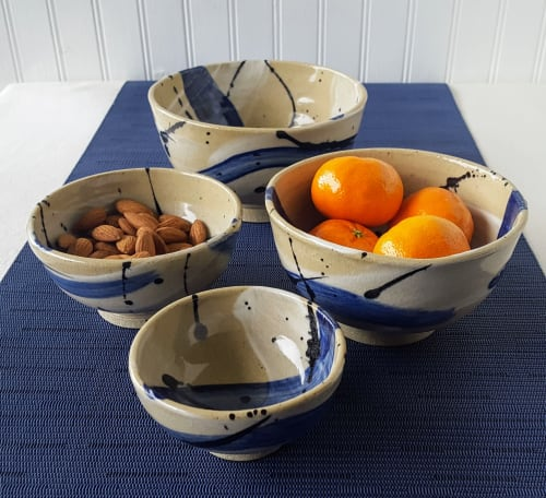 """Tableware by Orna's Pottery seen at Private Residence, Seattle - Ceramic bowls from the """"Splash of Color"""" collection"""
