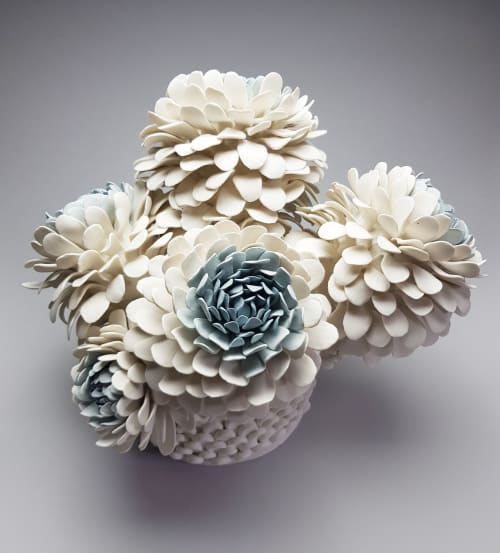 Sculptures by Linda Southwell Ceramics seen at Private Residence - The tree of Aphrodite