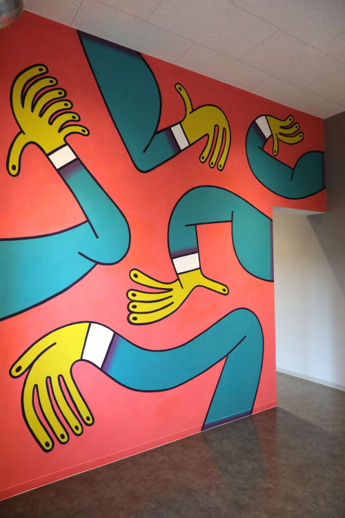 Murals by Keeenue seen at The University of Tokyo, Bunkyo City - Indoor Mural