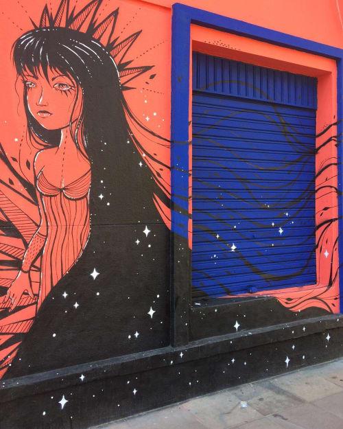 Street Murals by Ane Schütz seen at Sobrado 366, Cidade Baixa - Mural