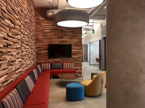Wall Treatments by Wonderwall Studios seen at Square 1 Bank, San Francisco - Blunt
