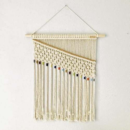 Macrame Wall Hanging by YASHI DESIGNS seen at Private Residence, Denver - Macrame Rainbow Wall Hanging