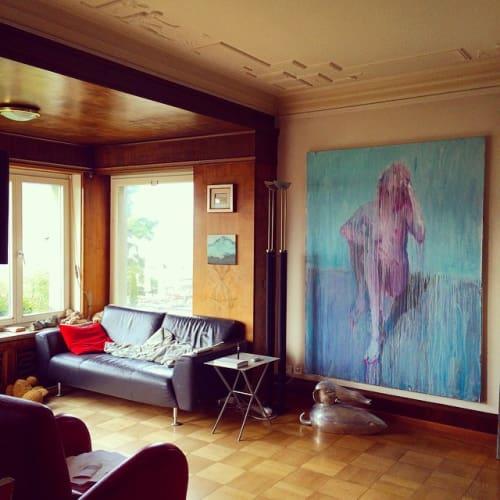 Paintings by Chrissy Angliker seen at Private Residence, Zürich - Bubblegum Nude