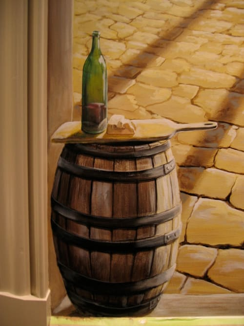 Murals by ARTSIDE MURALS seen at Private Residence, Mississauga - Wine cellar mural