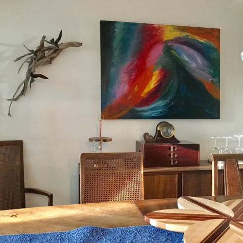 Paintings by Caroline Karp Artist seen at Private Residence, Clearwater - North Wall Series 4