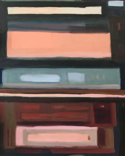 Paintings by Sara Marlowe Hall seen at Private Residence, Los Angeles - There's A Lake Below