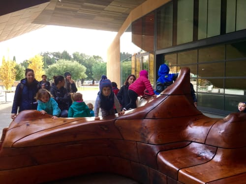 Sculptures by Yulia Pinkusevich seen at McMurtry Building, Stanford - Sima Sculpture Bench