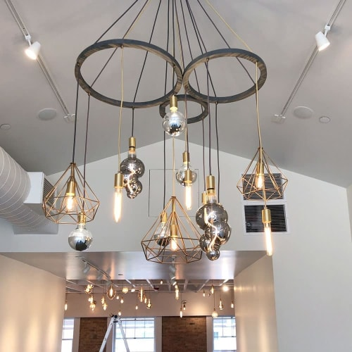 Chandeliers by Hangout Lighting seen at Private Residence, Hinsdale - Custom Chandeliers