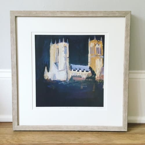 Paintings by Gill Vines Artist seen at Private Residence, New York - Lincoln Cathedral at Night