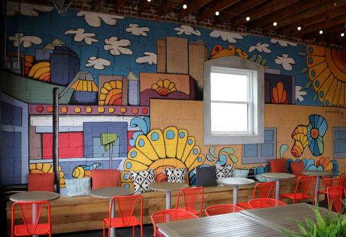 Murals by Doodle Dood LLC seen at Parlor, Kansas City - Interior Mural