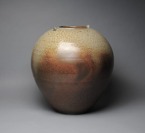 Vases & Vessels by John McCoy Pottery seen at Creator's Studio, West Palm Beach - Vase with Handles Soda Fired