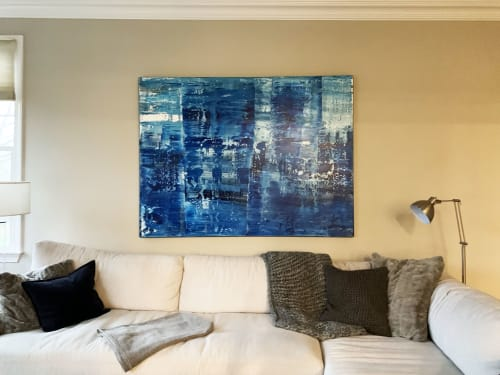 Paintings by Koen Lybaert Studio - Esther Santoyo Gallery seen at Private Residence, Califon - Emperor Bay [Abstract N°2381]