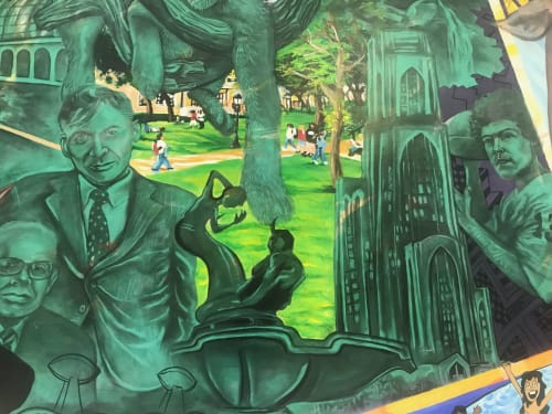 Murals by kyle Holbrook seen at Pennsylvania - Simon Mall