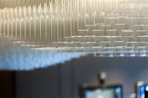 Lighting by Haberdashery seen at 77 Mayfair, London - Semblance - bespoke lighting sculpture