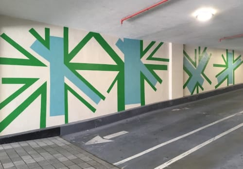 Murals by Michelle Weinberg seen at Bay Parc Apartments, Miami - Electric Palm