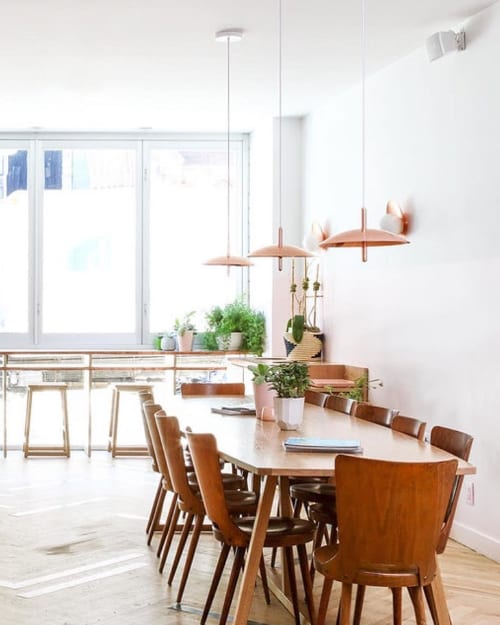 Pendants by Souda seen at Private Residence, New York - Signal Pendants in 'Verde'