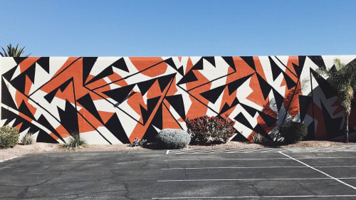 Street Murals by Jaque Fragua seen at Tucson Museum Of Art, Tucson - Tucson Desert Wall
