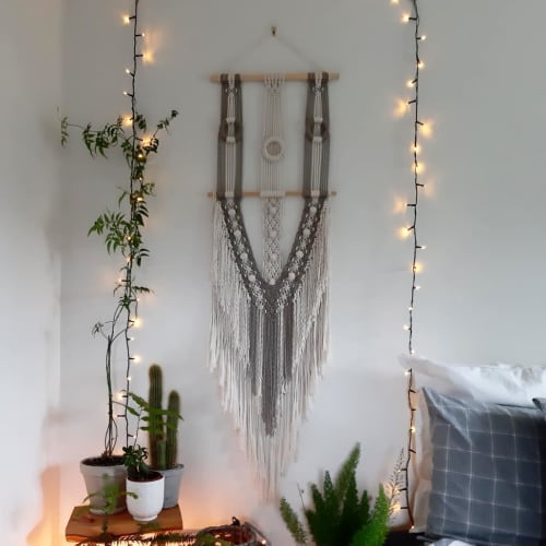 Macrame Wall Hanging by The Macrame Man seen at Private Residence, Dublin - Custom Macrame Wall Hanging