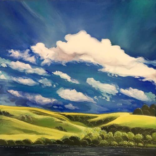 Paintings by Crystal Rassi Fine Art seen at Creator's Studio, Saskatoon - Dark water