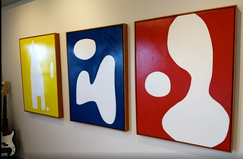 Paintings by Kerry Campbell seen at Creator's Studio, Los Angeles - Lover