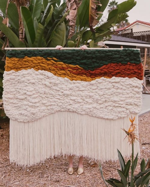 Wall Hangings by Tiffany Lusteg seen at Private Residence, Joshua Tree - 6' x 6' Weaving