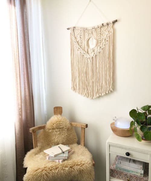 Macrame Wall Hanging by Nordic Macramé by Hanna seen at Private Residence - Northern Light