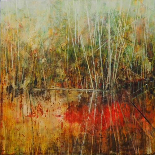 Paintings by Susan Schmidt seen at Noosa Heads, Noosa Heads - Red River Rush_2018
