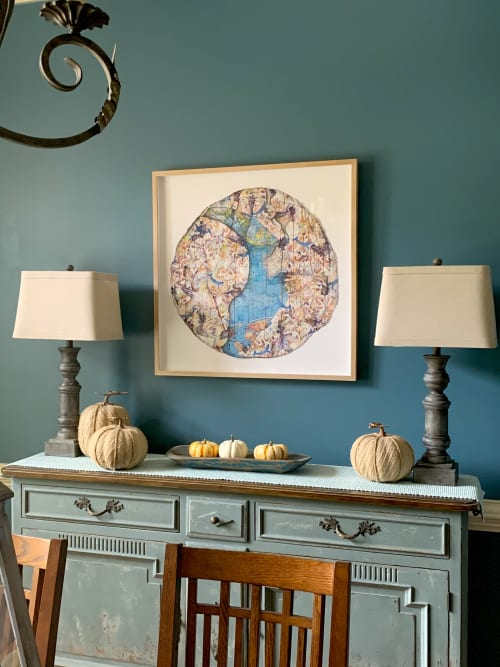 Art & Wall Decor by Roxane Hollosi Fine Arts seen at Private Residence, Wake Forest - Vanishing Worlds 4 - Blue Whales