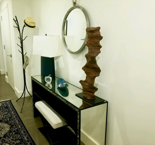 Sculptures by Lutz Hornischer seen at Private Residence - Wood Sculpture - Little Red Rock