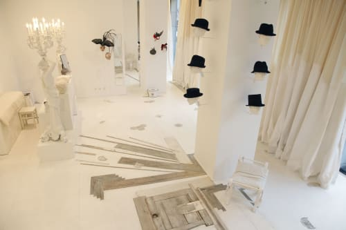 Interior Design by Bennett + Boehme Vision seen at Potsdamer Straße 81, Berlin - Concept and Design Fiona Bennett Hat Store