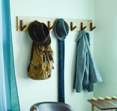 Furniture by THE IRON ROOTS DESIGNS seen at Creator's Studio, Portland - Modern Coat & Hat Rack