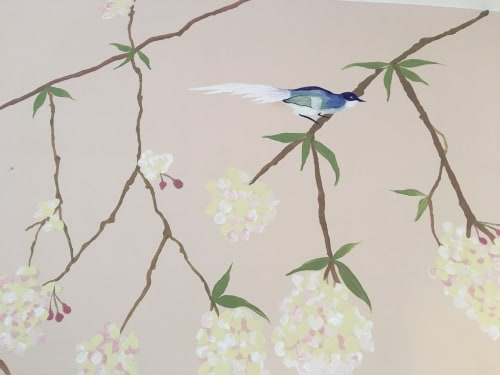 Chinoiserie wallpaper style mural   Murals by Living Wall Murals