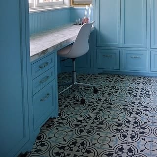 Tiles by Avente Tile at Private Residence, Napa - Mission Roseton Clermont Encaustic Cement Tile