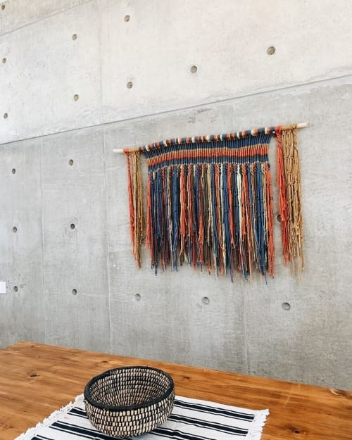 Macrame Wall Hanging by Fibra Bohemia seen at Private Residence, Paracas - Quipu Wall Hanging