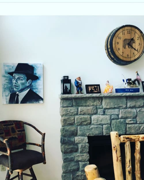 Paintings by Tim Smith seen at Private Residence, Philadelphia - Sinatra Painting