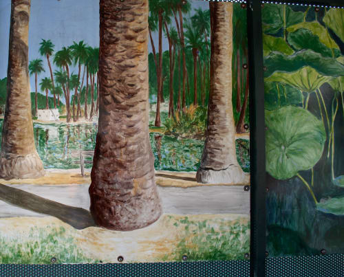 Murals by Kelly Witmer seen at Echo Park Ave. & Montana St, Los Angeles - Echo Park Bus Stop Murals