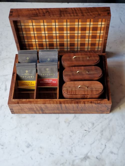 Tableware by Copper Pig Woodworking seen at Creator's Studio, Boston - Stadia Teabox #1