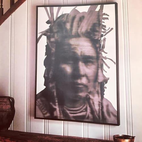 Paintings by Alison Van Pelt seen at Private Residence, Lake Arrowhead - Jack Rabbit