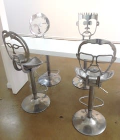 Furniture by Nicole Allen Sculpture seen at Victoria - Face Bar Stools
