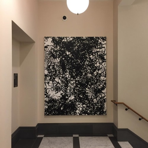 Paintings by Christopher Yockey seen at 10 Madison Square West, New York - Paintings