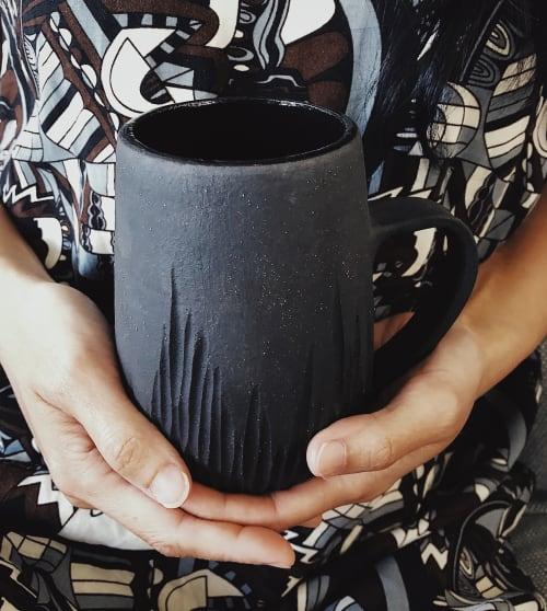 Cups by Seoul Sister Studio seen at Private Residence, San Francisco - Dark.Mug.1.XL