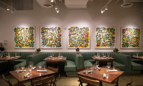 Paintings by Studio Teppo seen at Unconventional Diner, Washington - Five Paintings