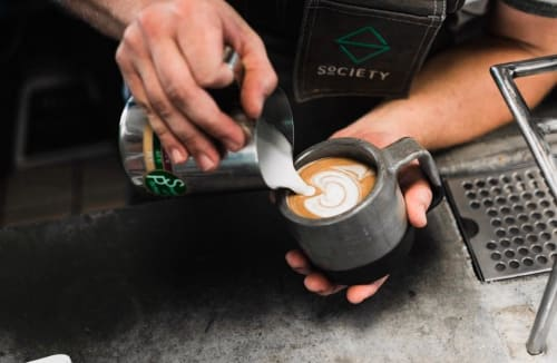 Cups by THrō Ceramics at Society Coffee, Euless - Coffee Cup