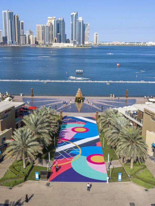 Street Murals by Sinta Tantra seen at Sharjah, Sharjah - Horizon to Horizon