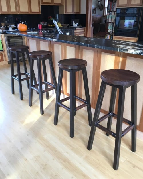 Chairs by Milbourn Woodworks Inc. seen at Private Residence, Bandon - Bar Stools