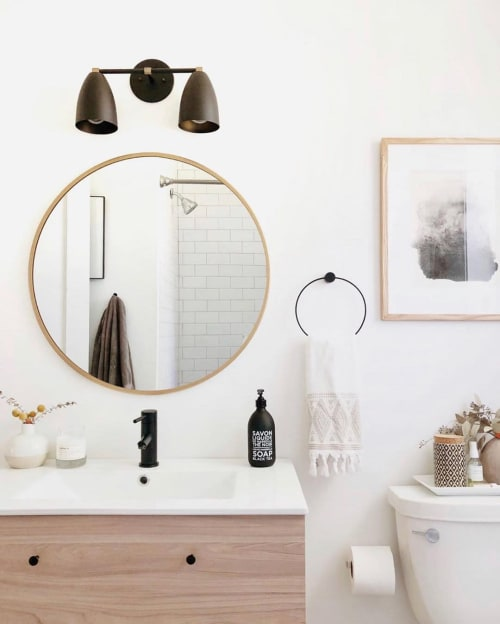 Sconces by Southern Lights Electric seen at Private Residence, Nashville - Betty Vanity Wall Sconce